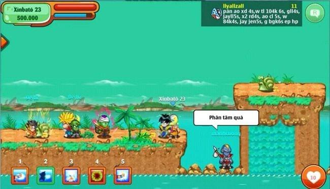 NPC Xinbato trong game Ngọc Rồng Online