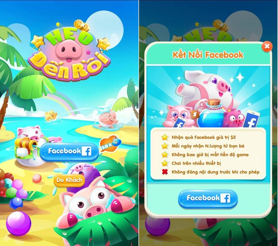 Hình ảnh trong game Heo Đến Rồi - Xây Đảo tại HieuMobile