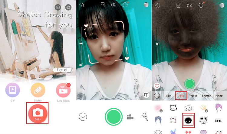 Hình ảnh ujduIx3 của Cách chụp ảnh mặt tóc cháy khét đen thui hài hước bằng WutaCam tại HieuMobile