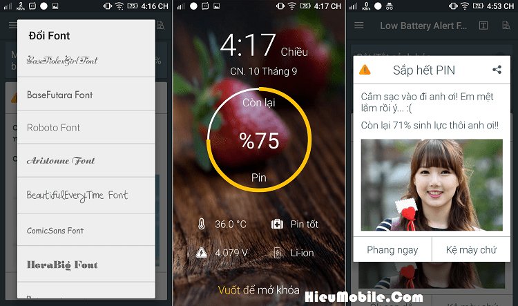 Hình ảnh usJtljE của Tải Low Battery Alert Funny - Thông báo pin yếu bằng dòng chữ khác tại HieuMobile