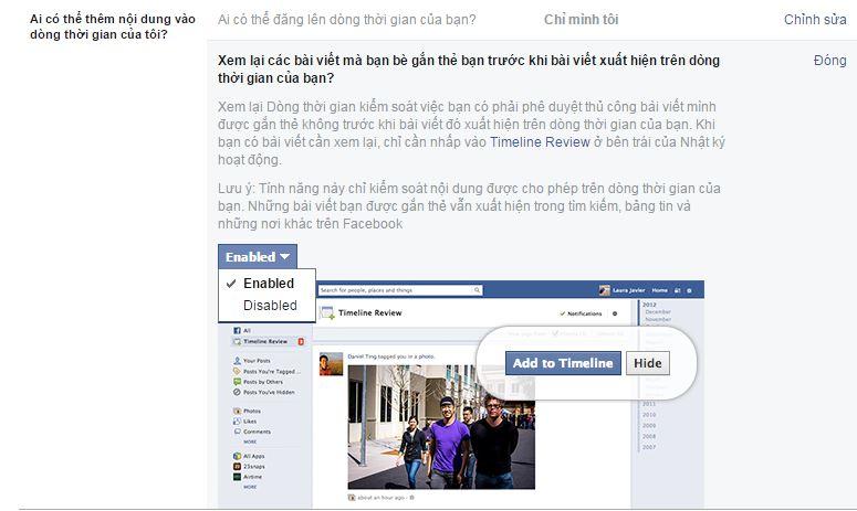 Hướng dẫn chặn bạn bè Tag và đăng lên dòng thời gian của bạn trên Facebook