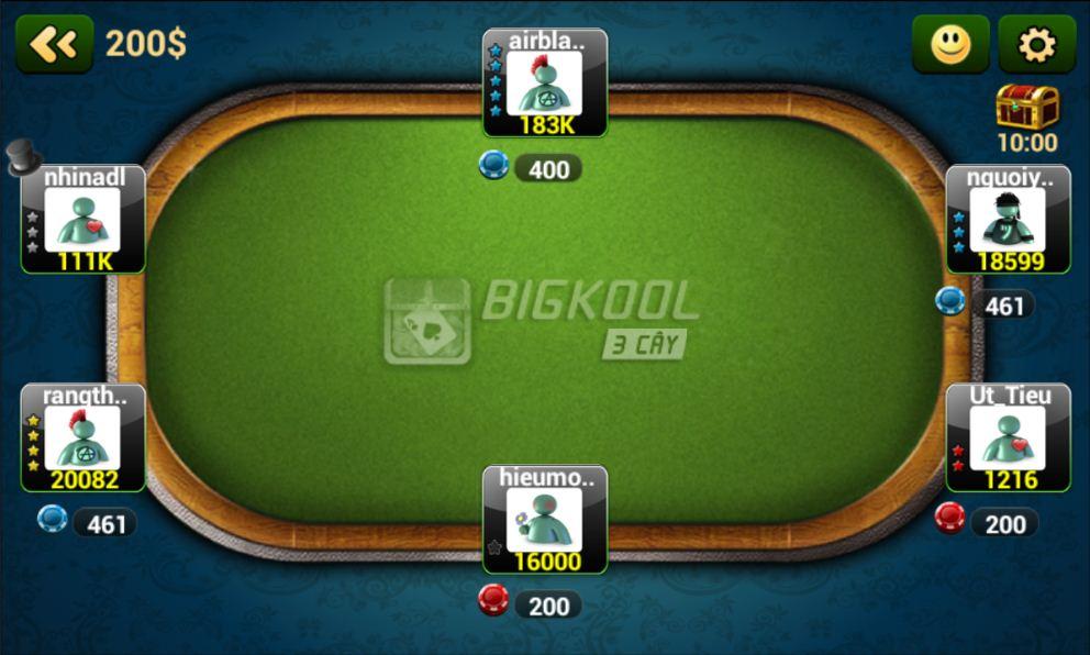 Thiết kế game đơn giản mà dễ dùng - Game đánh bài BigKool