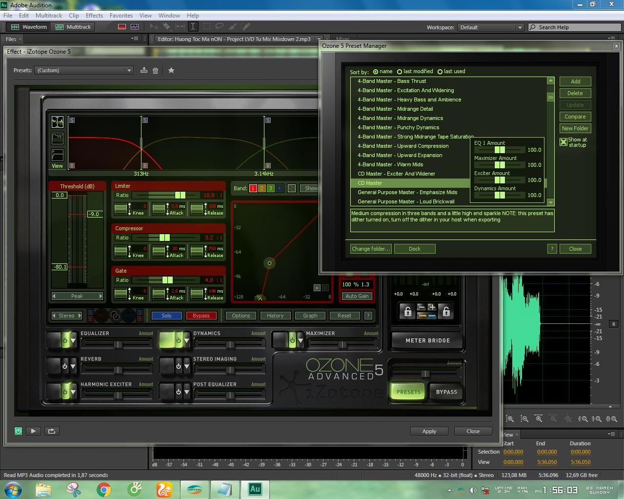 Chia sẻ Project và hướng dẫn Mix nhạc trên Adobe Audition