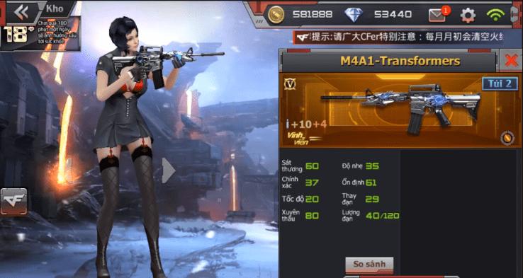 Hình ảnh vpYgj0c của Cảm nhận độc đáo M4A1 Transformer trong game Crossfire Legends tại HieuMobile