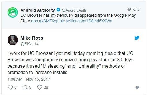 Hình ảnh vs3cMKp của Lý do nào khiến UC Browser bị biến mất khỏi CH Play ? tại HieuMobile