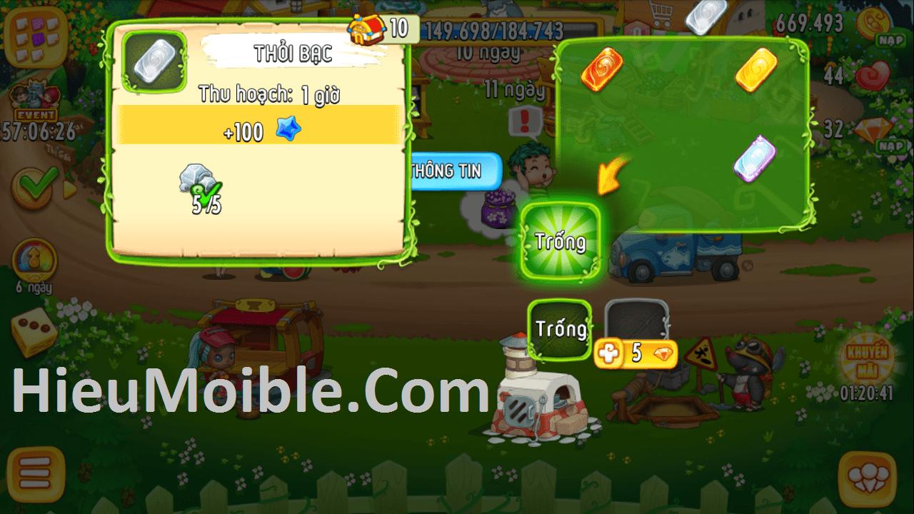 Hình ảnh vyJQ5OV của Khám phá tính năng Đúc chậu và Cường Hóa Trang Trí Khu Vườn Trên Mây tại HieuMobile