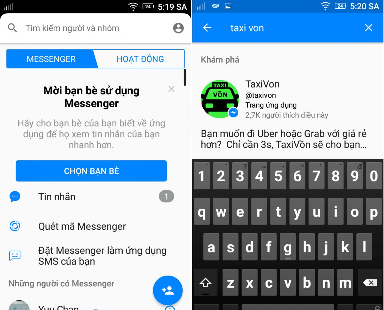 Hình ảnh xF3uZhl của Cách lấy mọi thông tin, mã giảm giá Grab và Uber trong Messenger tại HieuMobile