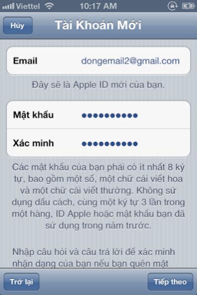 Làm thế nào để tạo tài khoản ID Apple miễn phí ?