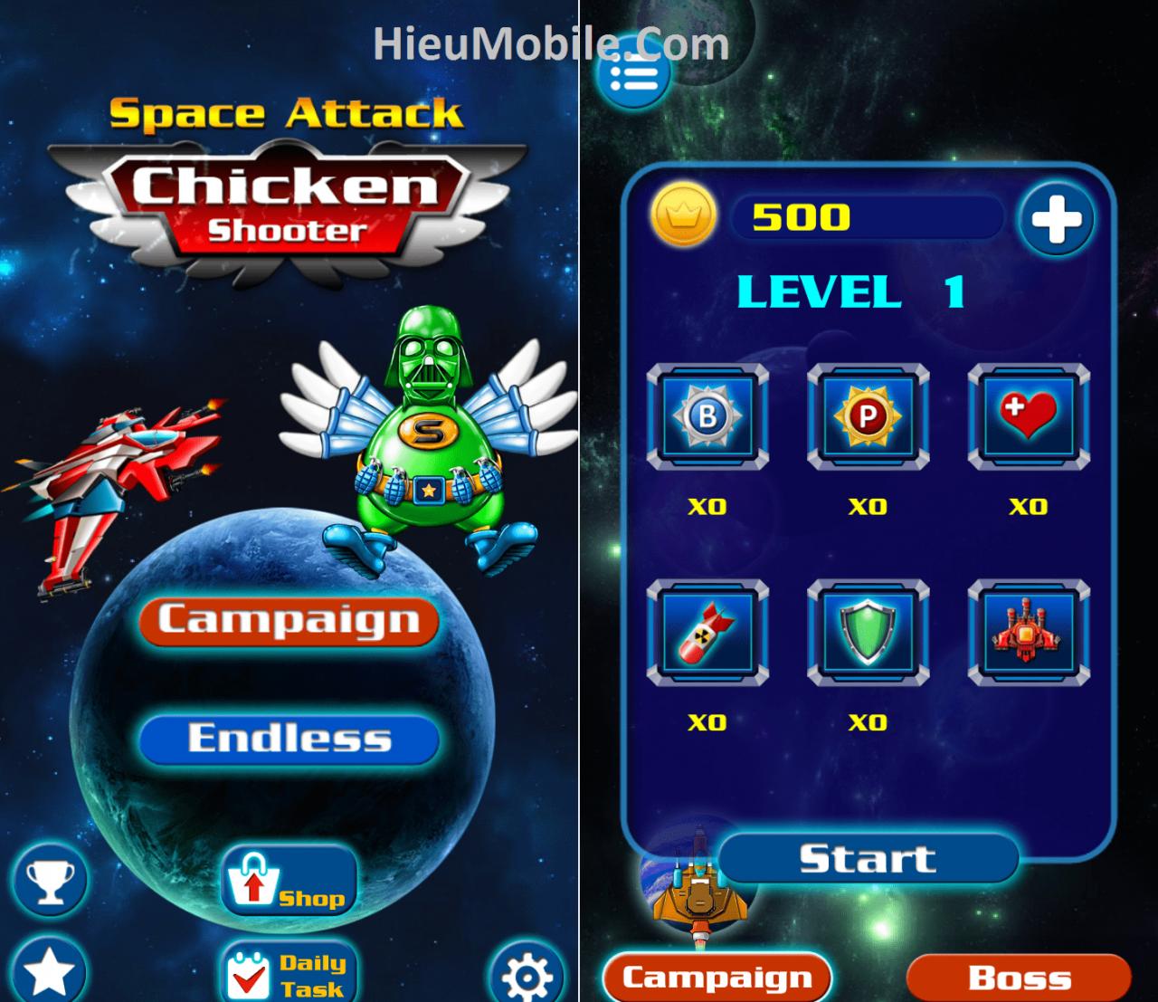Hình ảnh xqHARwO của Tải game Bắn Gà Vũ Trụ - Chicken Shooter tại HieuMobile