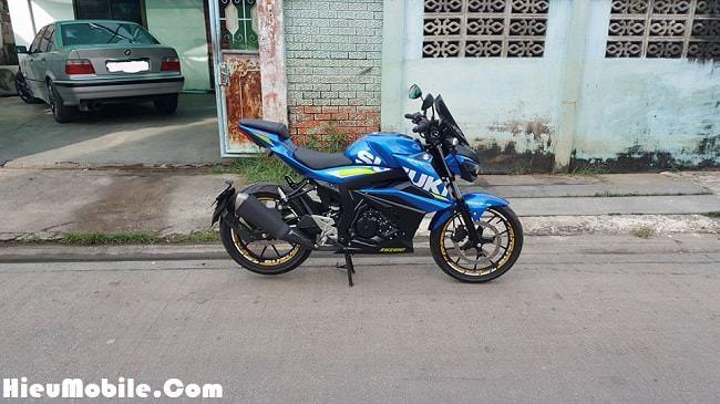 Đây là chiếc Suzuki GSX S150 đến từ Thái Lan đã gắn thêm vài món đồ chơi nhỏ nhưng cực chất nếu bạn quan sát ở gần.