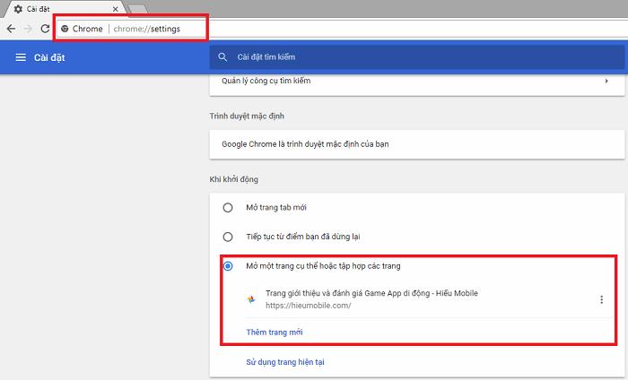 Hình ảnh yPInCMj của Tự động vào Facebook hoặc bất kỳ trang web nào khi khởi động Chrome tại HieuMobile