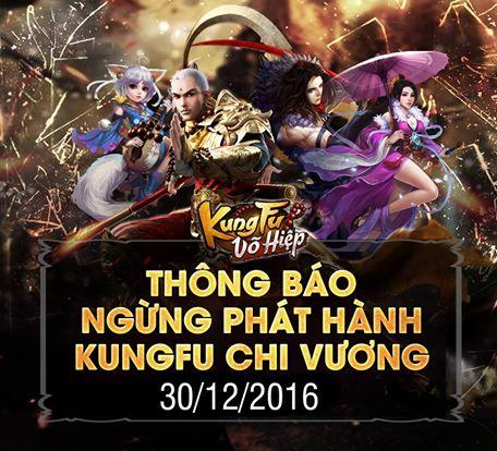 Game Kungfu Chi Vương thông báo ngừng hoạt động