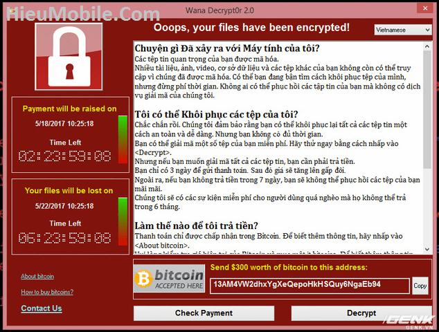 Hình ảnh yrGyNFF của Hướng dẫn sử dụng công cụ kiểm tra WannaCrypt của BKAV tại HieuMobile