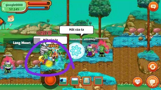 Hình ảnh một nhân vật đang giữ Ngọc Rồng Namếc
