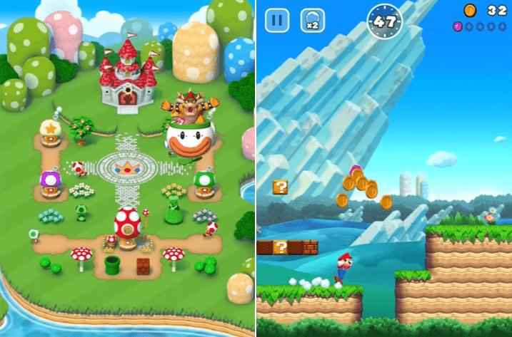 Hình ảnh trong game Super Mario Run - Nấm lùn 2017 tại HieuMobile