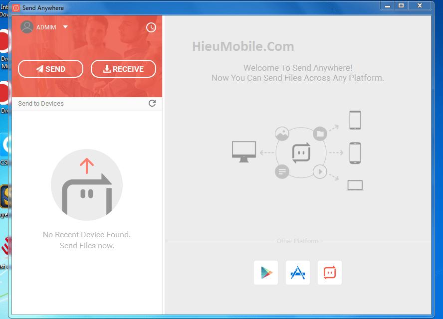 Hình ảnh zav7bF3 của Tải Send AnyWhere - Trao đổi dữ liệu giữa máy tính với điện thoại tại HieuMobile