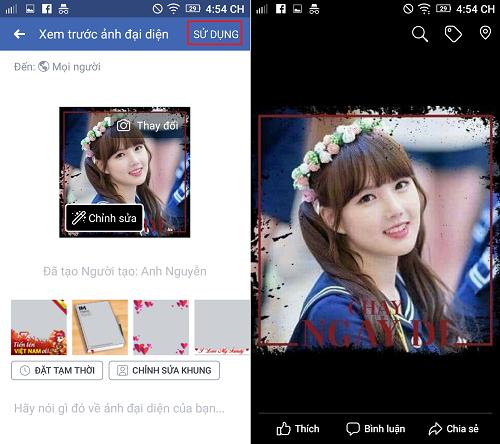 Hình ảnh Screenshot_2018 05 11 16 54 12 của Cách thêm ghép khung ảnh Chạy ngay đi cho hình đại diện Facebook tại HieuMobile