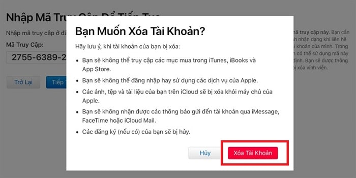 Hình ảnh optimized ibe5 của Cách xóa Apple ID và tài khoản iCloud vĩnh viễn trên iPhone tại HieuMobile