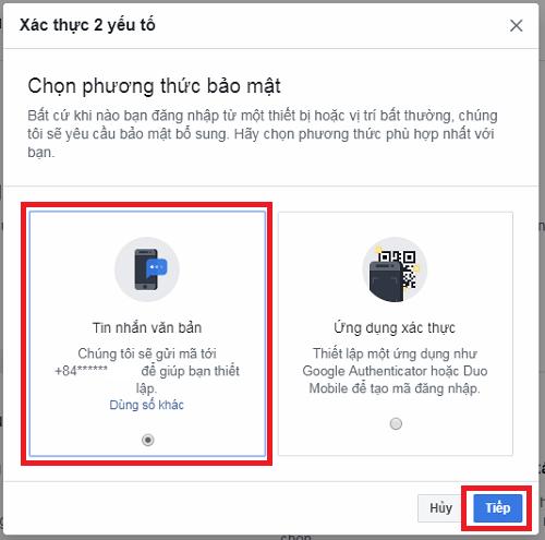 Bước 2 - cách kích hoạt tính năng xác thực 2 bước cho tài khoản Facebook trên giao diện web của máy tính