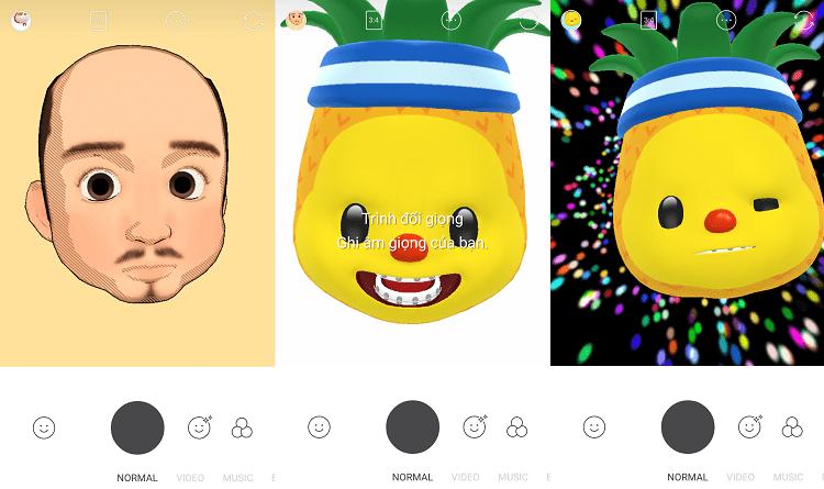 Hình ảnh optimized r5pn của Snow thêm tính năng mặt nạ Animoji ngộ nghĩnh giống iPhone X tại HieuMobile