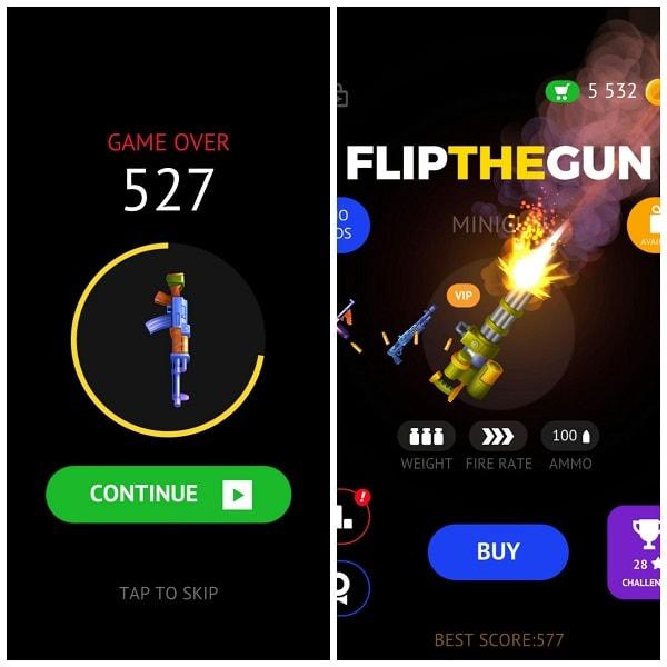 Flip The Gun là game bắn súng có lối chơi lạ và độc
