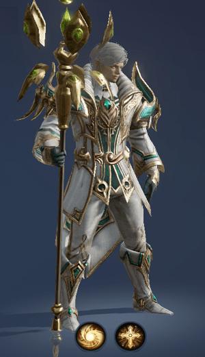 Hình ảnh nhân vật buff tộc Người - Bishop trong game Lineage 2 Revolution – L2R