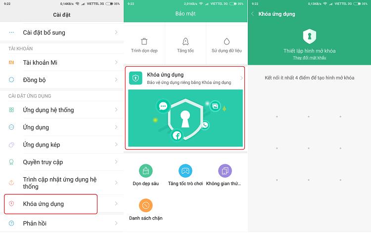 Hình ảnh optimized 45lx của Cách khóa ứng dụng bằng mật khẩu, vân tay và khuôn mặt cho Xiaomi tại HieuMobile