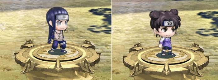 Cộng điểm tiềm năng cho hệ Hỏa nhân vật Hyuga Neji và Tenten trong game Làng Lá Phiêu Lưu Ký