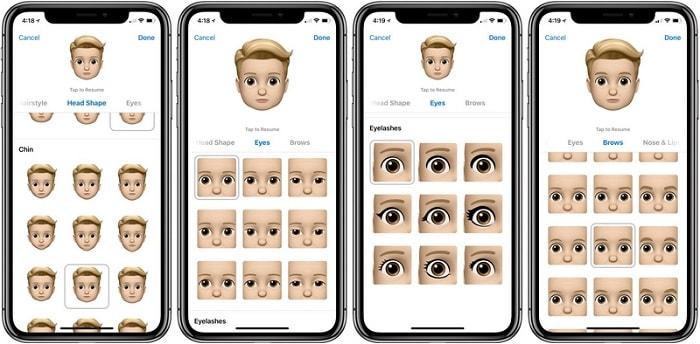 Hình ảnh optimized aowo của Hướng dẫn tạo một Memoji đầy đủ trên iPhone X đã cập nhật iOS 12 tại HieuMobile