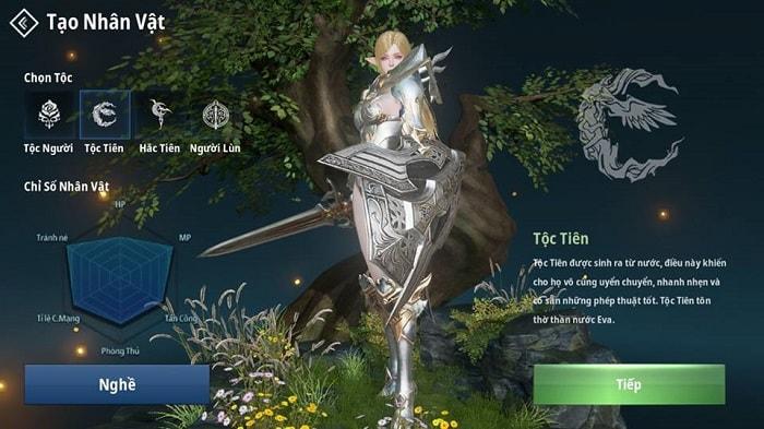 Hình ảnh tộc Tiên của game Lineage 2 Revolution (L2R) Việt Nam