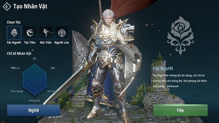 Hình ảnh của tộc Người trong game Lineage 2 Revolution (L2R) Việt Nam