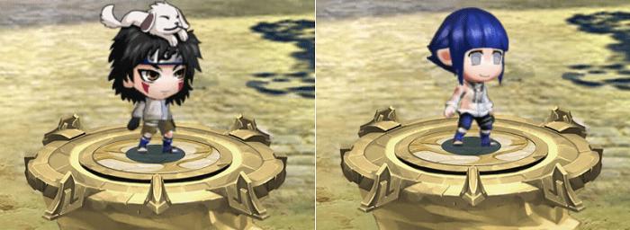 Cộng điểm tiềm năng cho hệ Thủy nhân vật Inuzuka Kiba và Hyuga Hinata trong game Làng Lá Phiêu Lưu Ký