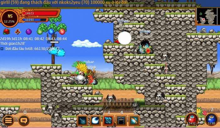 Map Cửa Né Tránh trong Lãnh địa gia tộc của game Ninja School Online