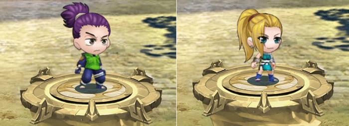 Cộng điểm tiềm năng cho hệ Thổ nhân vật Nara Shikamaru và Yamanaka Ino trong game Làng Lá Phiêu Lưu Ký