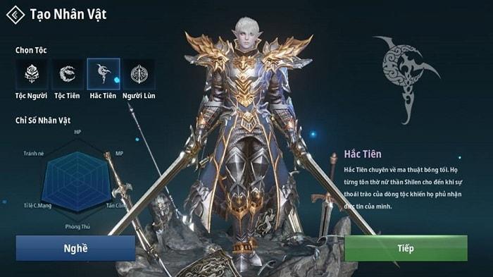 Hình ảnh của tộc Hắc Tiên trong game Lineage 2 Revolution (L2R) Việt Nam
