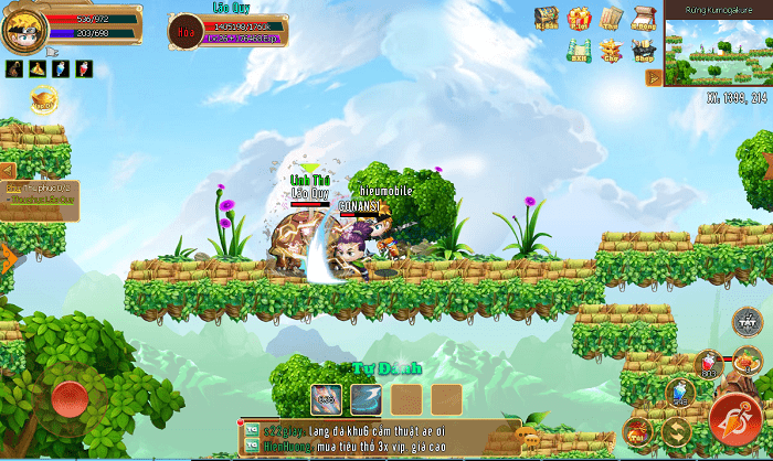 Hình ảnh boss Linh Quy - 1 trong các Vĩ Thú của game Làng Lá Phiêu Lưu Ký