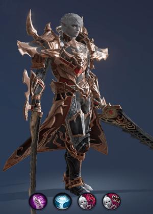 Hình ảnh nhân vật Đấu Sĩ của tộc Hắc Tiên - Blade Dancer trong game Lineage 2 Revolution – L2R