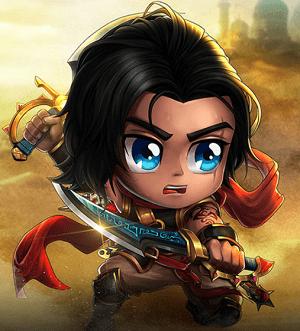Hình ảnh nhân vật Hoàng Tử Ba Tư trong game Anh Hùng Online