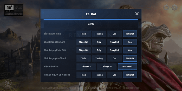 Hình ảnh optimized 9uum của Chơi game L2R sướng hơn khi tăng chất lượng đồ họa tối đa max setting tại HieuMobile