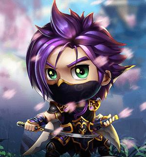 Hình ảnh nhân vật Sát Thủ Bóng Đêm trong game Anh Hùng Online