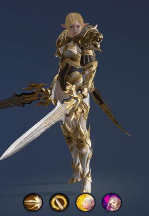 Hình ảnh nhân vật Đấu Sĩ của tộc Tiên - Sword Singer trong game Lineage 2 Revolution – L2R