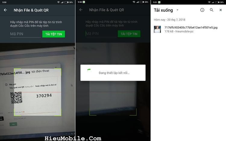 Hình ảnh optimized ie7e của Dùng thử tính năng chuyển file từ máy tính sang điện thoại của Cốc Cốc tại HieuMobile