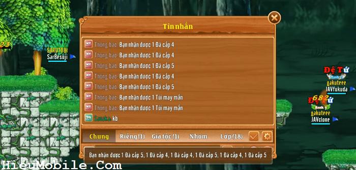 Một số phần thưởng từ hoạt động Khu Rừng Chết của game Làng Lá Phiêu Lưu Ký (LLPLK)