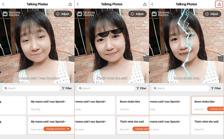 Hình ảnh optimized mpa9 của Tải Talking Photos - Biến hình ảnh thành video biểu cảm khuôn mặt độc lạ tại HieuMobile