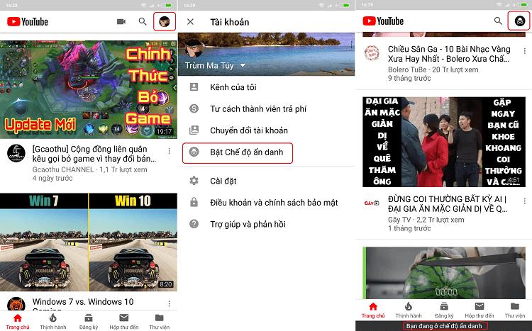Hình ảnh optimized mptb của Cách bật chế độ ẩn danh khi xem video trên ứng dụng Youtube tại HieuMobile