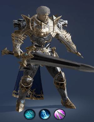 Hình ảnh nhân vật Đấu Sĩ của tộc Người - Warlord trong game Lineage 2 Revolution – L2R