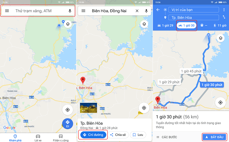 Hình ảnh optimized qfda của Cách tìm đường dành riêng cho xe máy bằng bản đồ Google Maps tại HieuMobile
