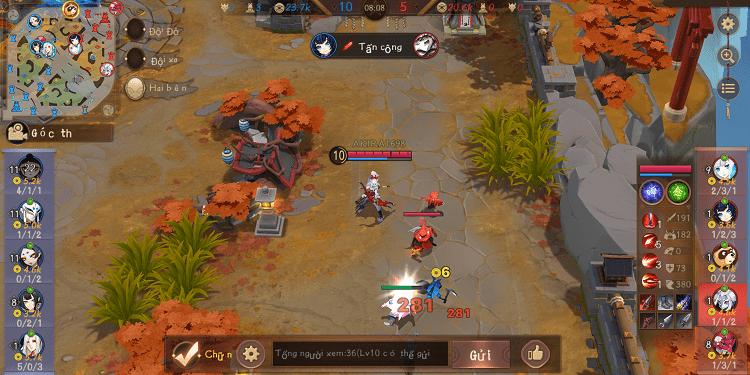 Onmyoji Arena - Âm Dương Sư Moba là game chiến thuật Moba quốc tế có ngôn ngữ tiếng Việt hấp dẫn nhất hiện nay