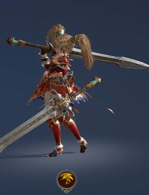 Hình ảnh nhân vật Đấu Sĩ của tộc Người Lùn - Slayer trong game Lineage 2 Revolution – L2R