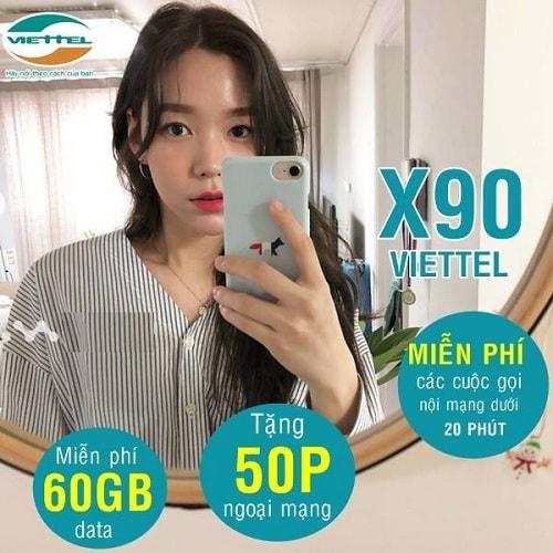 Hình ảnh optimized wbpi của Chi tiết gói cước X90 Viettel: 90k nhận 60GB/tháng, áp dụng toàn quốc tại HieuMobile